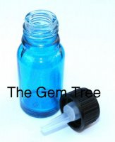 Aqua Blue Throat Chakra Bottle