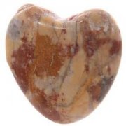 1 Assorted Marble Love Heart Shaped Crystal