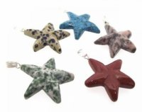 1 Assorted Gemstone Star Pendant