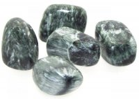 Seraphinite Tumbled Gemstone - AAA graded