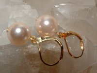 Southsea Pink Pearl Earrings - Leverback