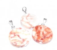 18Mm Red Egyptian Marble Pendant