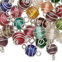 Glass Bead Spiral Colour Mix - Pack of 50