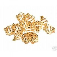 8mm Gold Spiral Cages For Gemstones + Crystals X 12