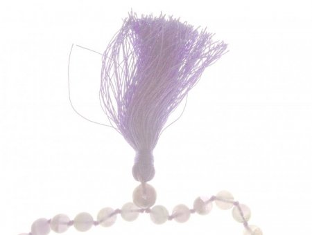 Amethyst Light Gemstone Mala Prayer Beads Necklace - 108 - with Pouch