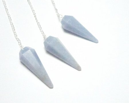 Angelite Gemstone Pendulum Dowser