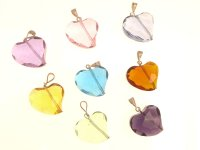 Abstract Heart Andara Pendant - various colours available