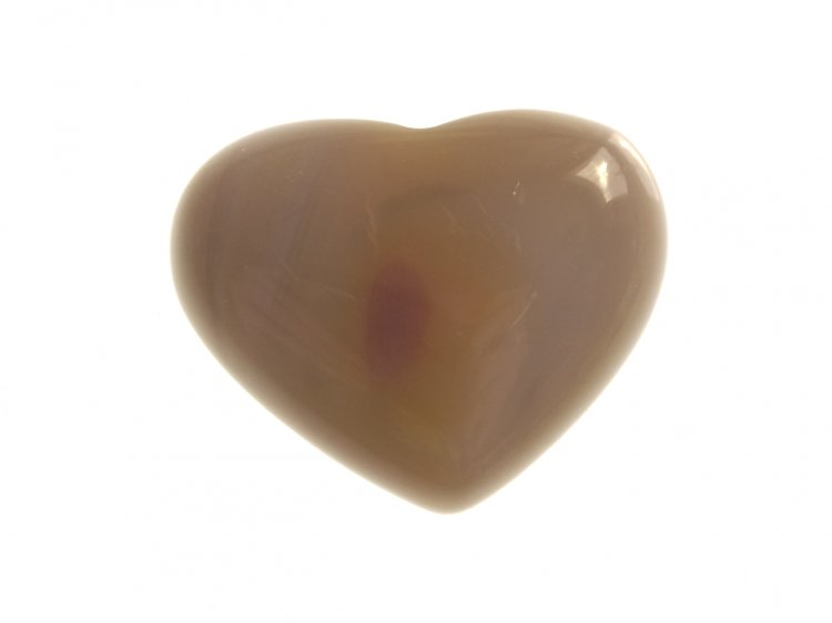 Agate Gemstone Puff Heart Carving