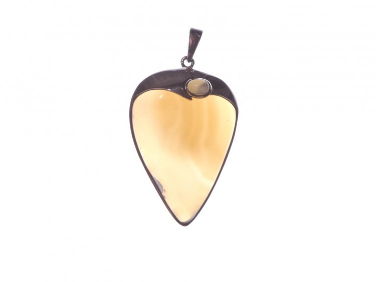 Agate Large Sterling Silver Gemstone Pendant