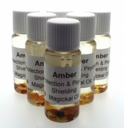 Amber Gemstone Oil Psychic Shielding