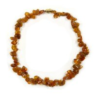 Amber Chip Necklace with Magnetic Clasp