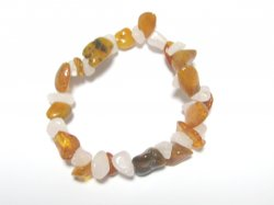 Rose Quartz and Amber Chip Bracelet