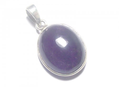 Amethyst Cabachon Sterling Silver Pendant