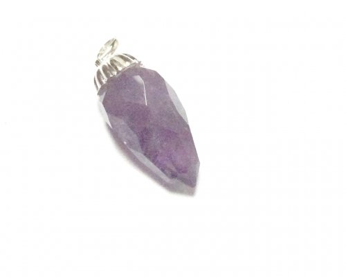 Amethyst Facetted Gemstone Pendant