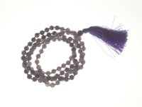 Amethyst Gemstone Mala Prayer Beads - 108 - with Pouch