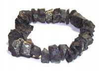 Medium Sized Natural Rough Black Tourmaline Bracelet