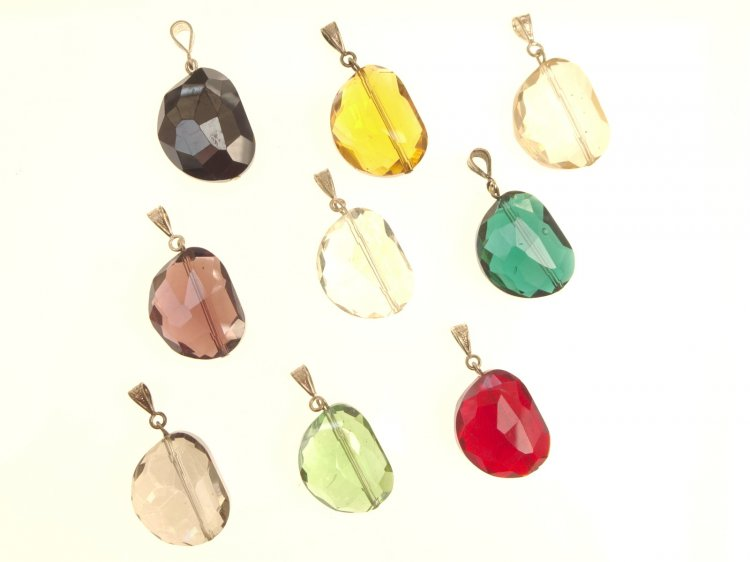 Abstract Rounded Andara Pendant - various colours available