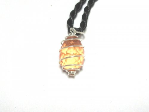 Lemon Andara Glass Spiral Pendant pure amazing energy