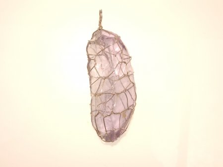 Lilac Andara Wire Wrapped Large Pendant