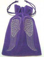 Angel Wings Embroidered Luxury Pouch