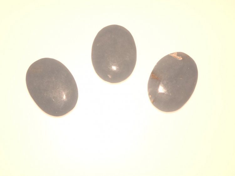 Angelite Oval Worry Stone Carving