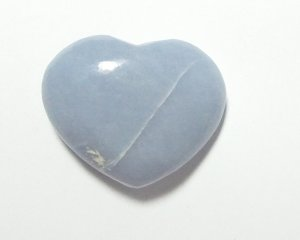 Angelite Polished Large Gemstone Crystal Heart 2
