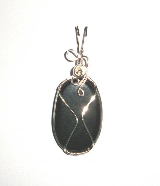 Apache Tear Slice Wire Wrapped Unique Pendant [19587] - £17.09 : The ...