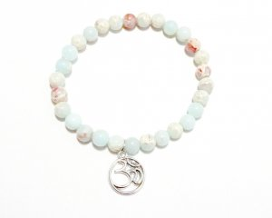 Aqua Terra Jasper Power Bracelet with Om Symbol