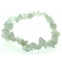 Aquamarine Crystal Gemstone Chip Bracelet