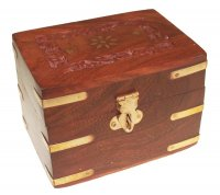 Aromatherapy Ornate Carved Wooden Box - Holds 6 Bottles