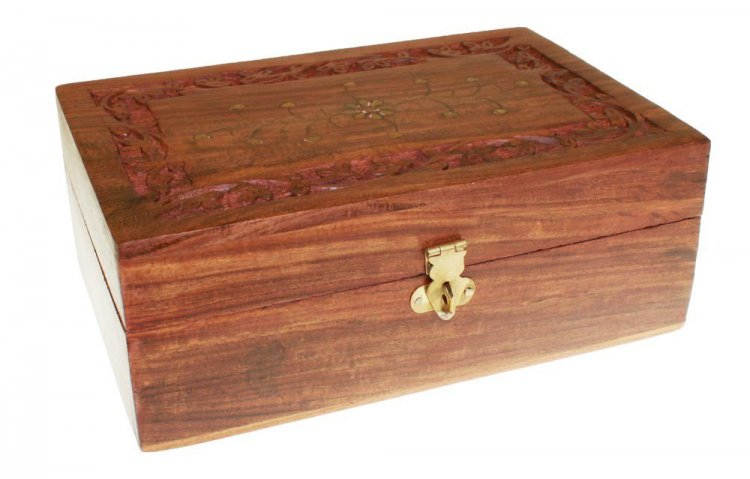 Large Aromatherapy Wooden Box Holds 12 Bottles 2 Compartments
