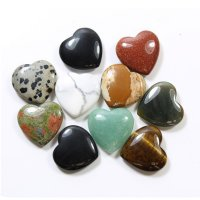 Gemstone Heart Carving - Various Crystals Available