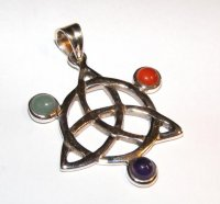 Assorted Gemstone Triquetra Pendant 1