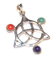 Assorted Gemstone Triquetra Pendant 3