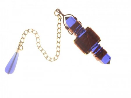 Blue Siberian Quartz Etheric Weaver Pendulum