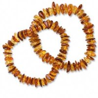 Baltic Amber Bracelet Medium To Dark Coloured Amber