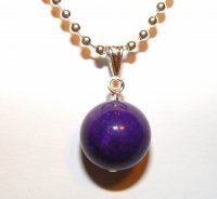 Beautiful Polished Purple Mountain Jade Pendant