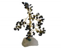 Black Onyx Gem Tree - Quartz Base