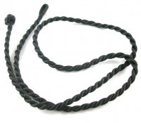 18 Inch Black Twisted Silk Cord Necklace Thong for Pendants