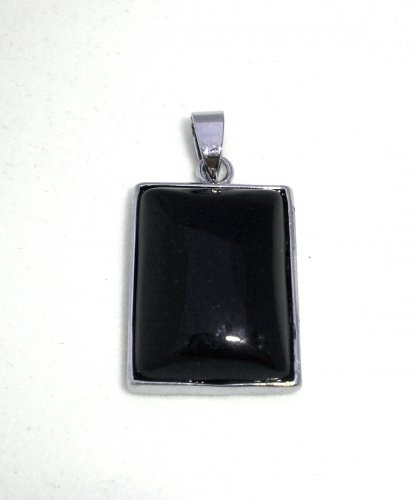 Black Onyx Framed Gemstone Pendant