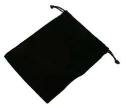 Black Rectangular Velvet Pouch Bag