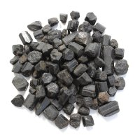 Black Tourmaline Terminations - set of 5