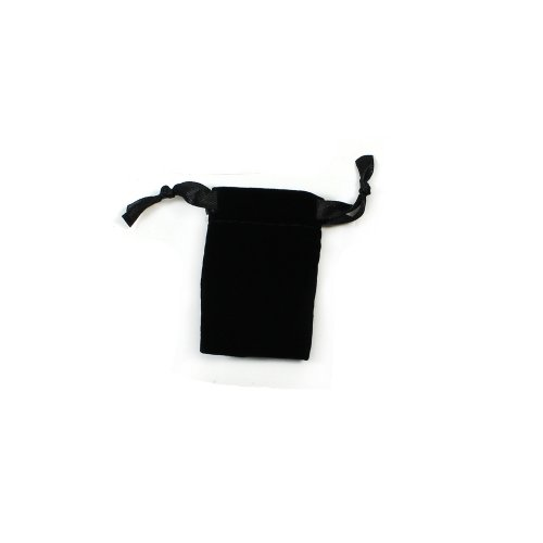 Black Velvet Mini Drawstring Pouch