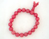Blood Jade Power Bracelet - 10mm spheres