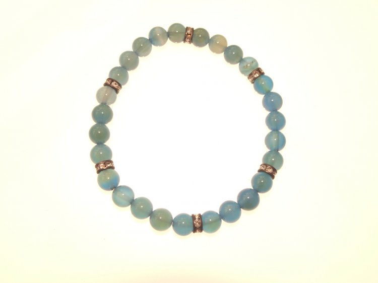 Blue Chalcedony Power Gemstone Bracelet