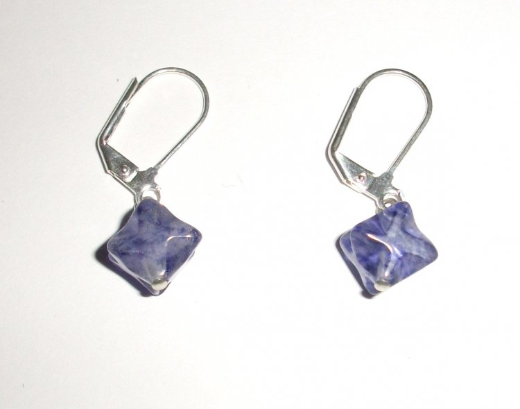 Blueberry Quartz Merkaba Earrings