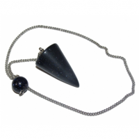 Blue Goldstone Gemstone Cone Dowser Pendulum