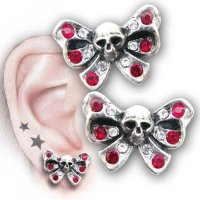 Bow Belles Studs (Pair) Alchemy Gothic Earrings