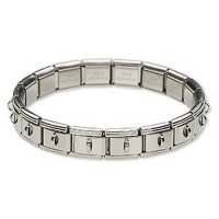 Stainless Steel Bracelet for charms and beads - single row 9mm
