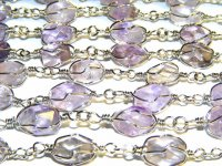 Brazilian Amethyst Bracelet With Polished Crystals